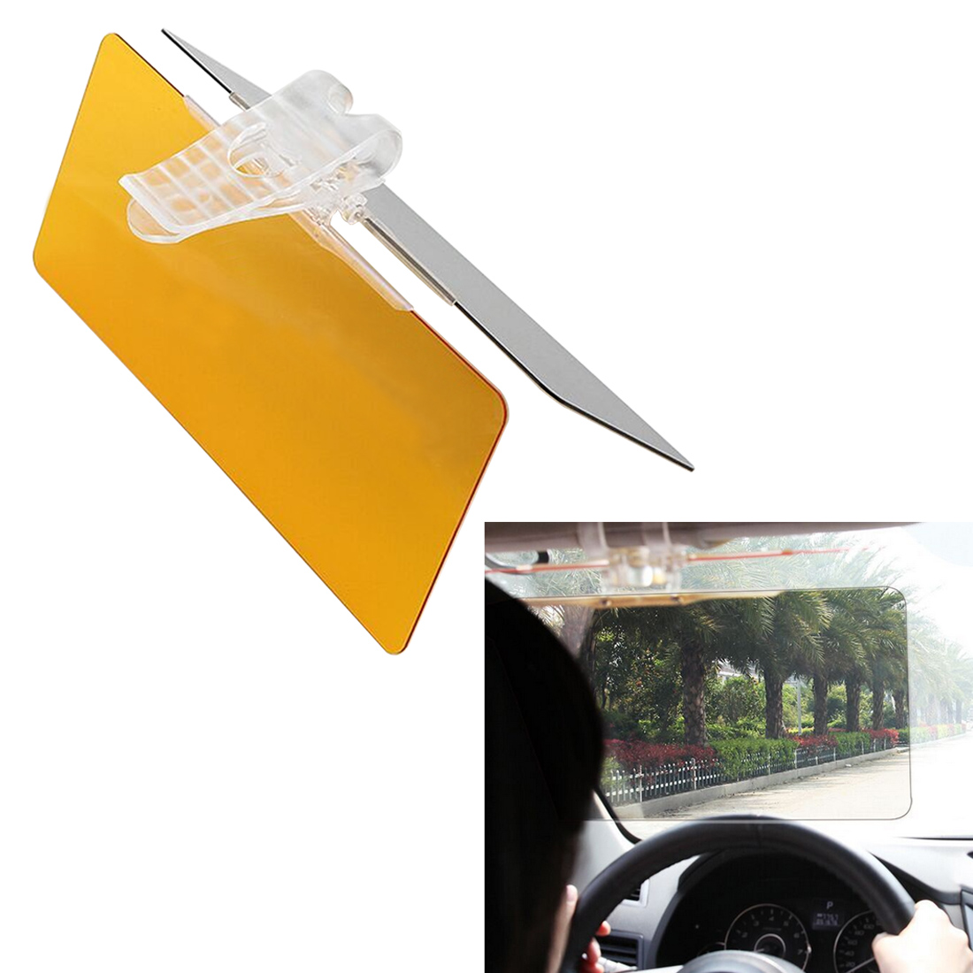 Dewtreetali Venta caliente coche visera gafas para el conductor día noche Anti deslumbramiento espejo viseras de sol vista clara gafas deslumbrantes