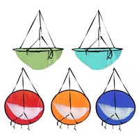 42 Inch Downwind Wind Sail Kit Kayak Wind Boat Paddle for Fishing PVC Paddle with Clear Window Canoe Sail Accessories