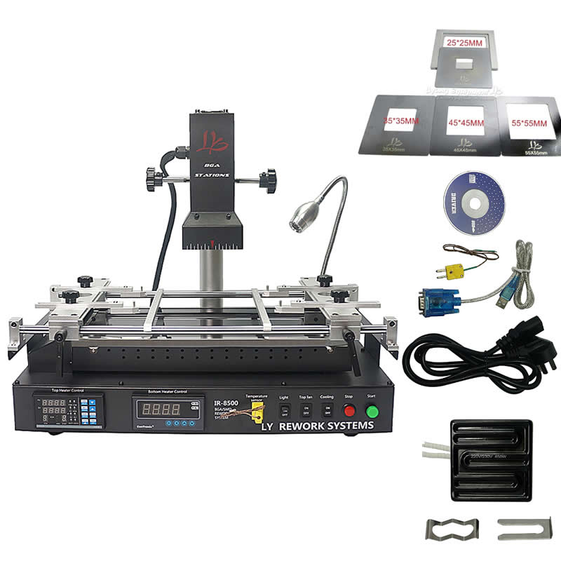 Estação de solda de retrabalho BGA máquina de reparo de soldagem IR8500 SMT SMD chip de manter com arquivo CE