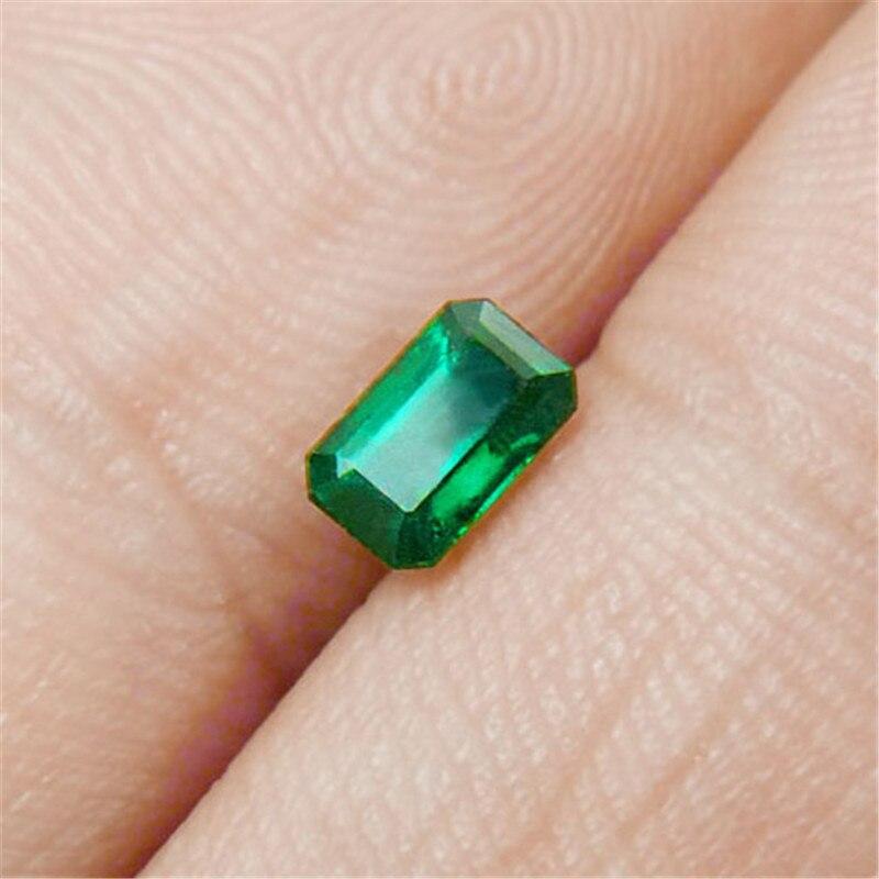 0,42 Carat Natürliche Lebendige Smaragd Lose Stein Sauber Höher Kristall Ngtc Zertifikat
