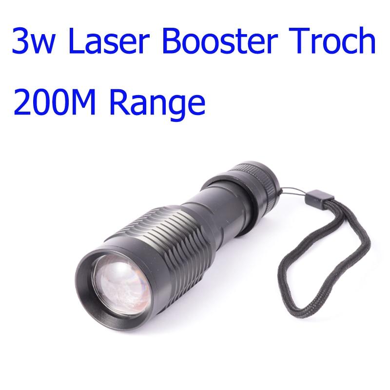 3w Laser Hunting Rifle Scope Torch 200M Range Black IR Laser LED Booster Flashlight Night Hunting