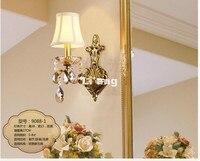 무료 배송 황동 e14 유럽 고전 황금 led 황동 벽 램프 황동 벽 sconce 그늘 현대 황동 벽 램프 광택