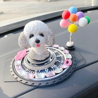 Inner drill in a swing car Shakes dog inside Creative adorable Perfume fragrance statues sculpture Home wedding decoration dies