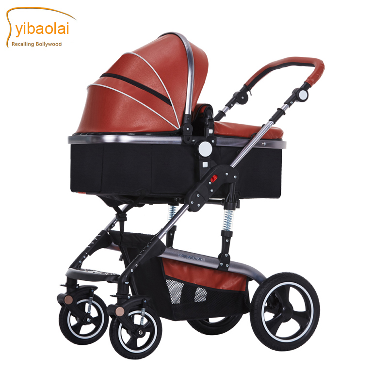 Suspension Leather 2017 new design baby carriage baby stroller light folding four seasons general baby stroller