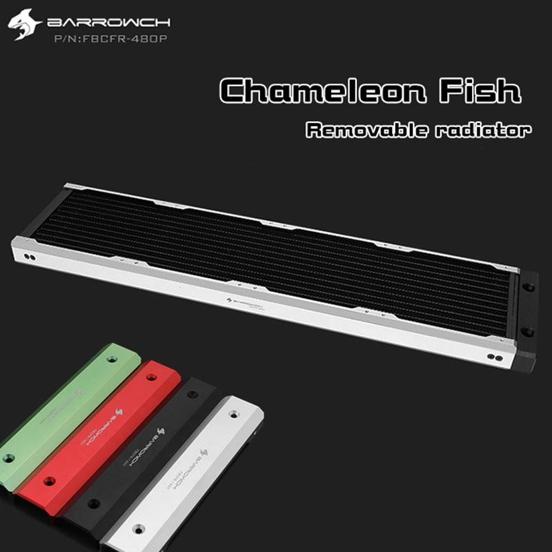 FBCFR-480 Barrowch, caméléon Fish radiateurs modulaires 480mm, radiateurs amovibles en acrylique/POM, adaptés aux ventilateurs 120mm