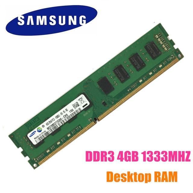 US $23 0 |Free Shipping Samsung 4G 4GB DDR3 PC3 10600U DDR3 1333 HZ Desktop  RAM Desktop memory 4G PC3 10600U DDR3 1333 HZ-in RAMs from Computer &