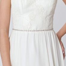 Dainty Rhinestone Belt, Crystal Bridal Belt,White Ivory Sash, Wedding Sash