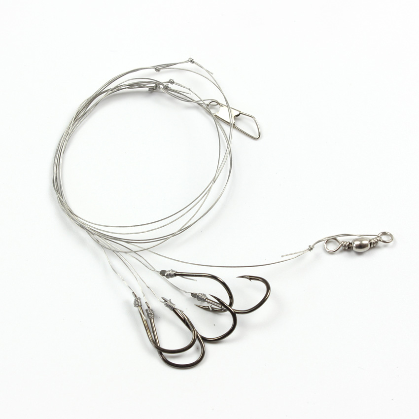 50pcs/lot Size5#-12# Fishing Steel Wire String Hooks fishing tackle