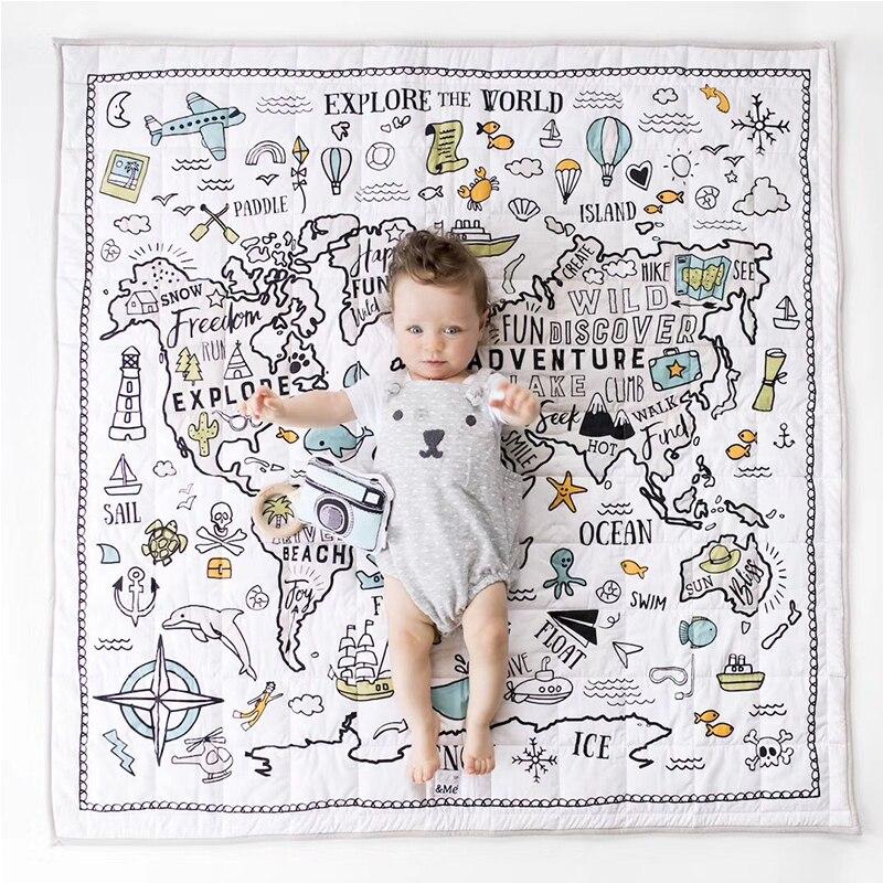 Bébé tapis de jeu jouets enfants tapis en développement tapis bébé chambre ramper Pad tapis pliant bébé tapis anti-chute climatisation couette