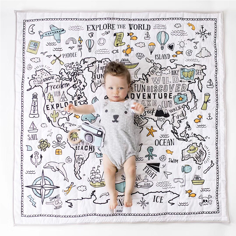 Baby Play Mat Toys Kids Rug Developing Carpet Baby Room Crawling Pad Folding Mat Baby Drop-proof Carpet Air Conditioning Quilt
