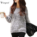 TANGNEST Women Sweaters 2016 Spring Autumn Ladies Knitted O-Neck Pullover Casual Long Sleeve Loose Solid Color Sweater WZM649
