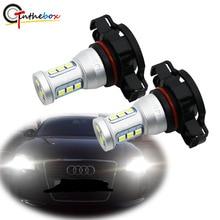 Gtinthebox CANBUS لا خطأ H16 LED 5202 PS19W dop24w LED لمبات لأودي A3 8P 2008 + LED DRL النهار تشغيل أضواء الأبيض 6000K
