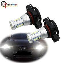 Gtinthebox bombillas LED CANBUS para AUDI A3 8P 5202 + luces de circulación diurna DRL, LED, sin Error, H16, PS19W, 2008 K, color blanco