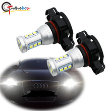 Gtinthebox canbus nenhum erro h16 led 5202 ps19w psy24w lâmpadas led para audi a3 8 p 2008 + led drl luzes diurnas branco 6000 k