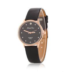 PU корейской моды пояса qQuartz часы из розового золота набор с бриллиантом женские часы досуга модные Товары