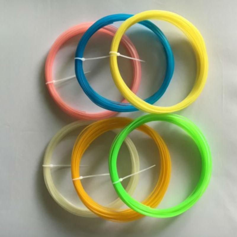 30pcs 6 Colors / set 300M PLA 1.75mm 3D printing supplies 3D plastic ribbons Fluorescent printing materials For 3D printing pen desktop 3d printing digital 3d printing for sale