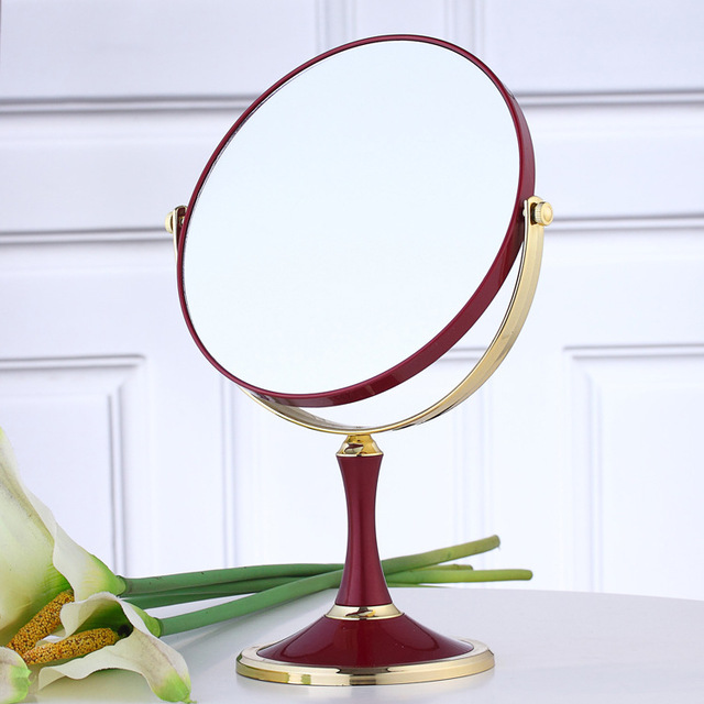 6 Pulgadas de Aumento 2x Circular Espejo de Maquillaje Doble 2 Sided Forma Redonda Espejo de aumento de Pie Espejo de maquillaje Herramientas