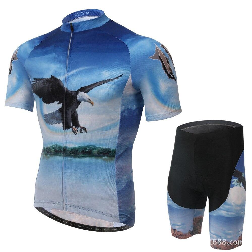 XINTOWN 2015 new eagle Vélo Vélo équipement d'équitation jersey à manches courtes costume usure vélo costumes sueur pantalon d'été fonction