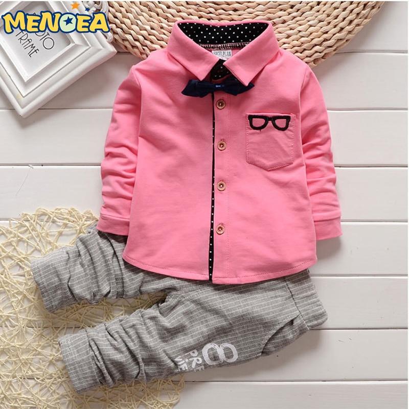 2018 Brand New Fashion Style Spring Boys Boy Clothing Set Cartoon Print T-shirt +Pant 2 pcs Baby Clothes Infant Suit 1-4Y new fashion boys cartoon locomotive set thomas