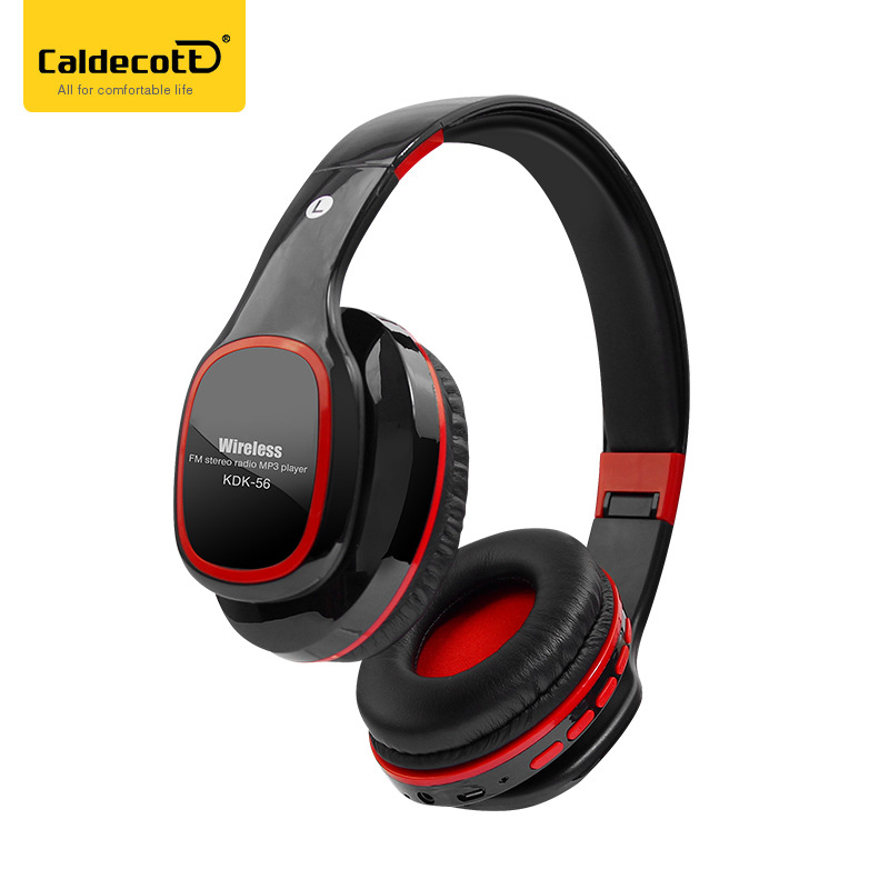 Caldecott Bluetooth Headphone Super Bass Stereo Sound Portable Earphone Wireless Headset Support TF Card Mp3 Player Black Color original xiaomi mi bluetooth speaker wireless stereo mini portable mp3 player pocket audio support handsfree tf card