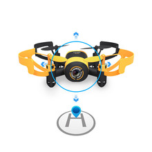 JXD 512V Small Flying Saucer UFO 2.4G Mini Quadcopter with 0.3MP Camera Headless Mode RC Drone Mode RC Hexacopter