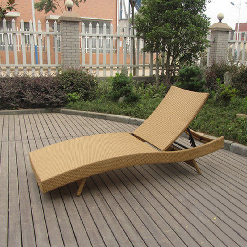 Patio PE Rattan Lounge Chair , Modern Comfortable Chaise Lounge transport by sea лопата truper pcl pe 31174