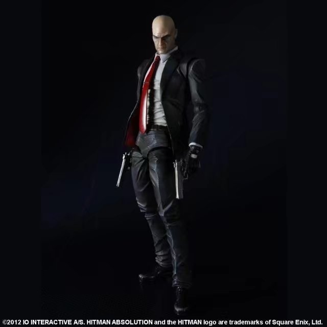 PLAY ARTS KAI Hitman Codename 47 PVC Action Figure Collectible Model Toy 23cm play arts kai bleach kurosaki ichigo pvc action figure collectible model toy 27 5cm