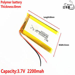 Image 4 - Good Qulity Liter energy battery 3.7V,2200mAH 803160 Polymer lithium ion / Li ion battery for tablet pc BANK,GPS,mp3,mp4