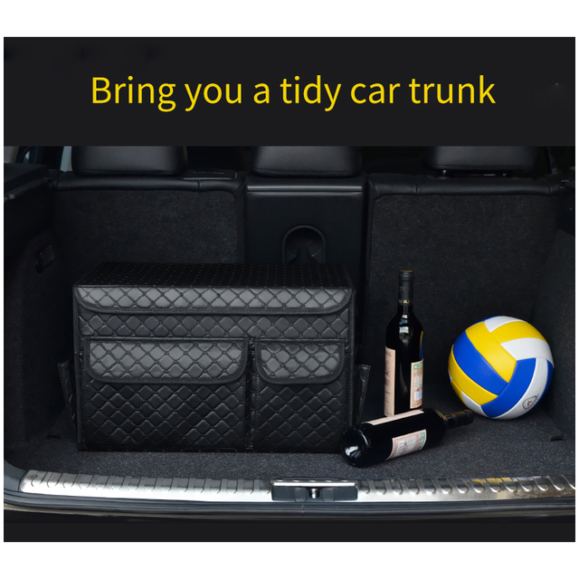 goedkoop kofferbak organizer auto organisator lederen vouwencar trunk organizer auto organizer leather folding storage box auto accessories stowing tidying collapsible box