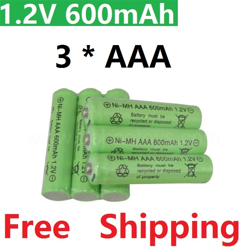 3psc lot rechargeable batteries aaa battery 1 2 v 600mah lithium li ion battery flashlight. Black Bedroom Furniture Sets. Home Design Ideas