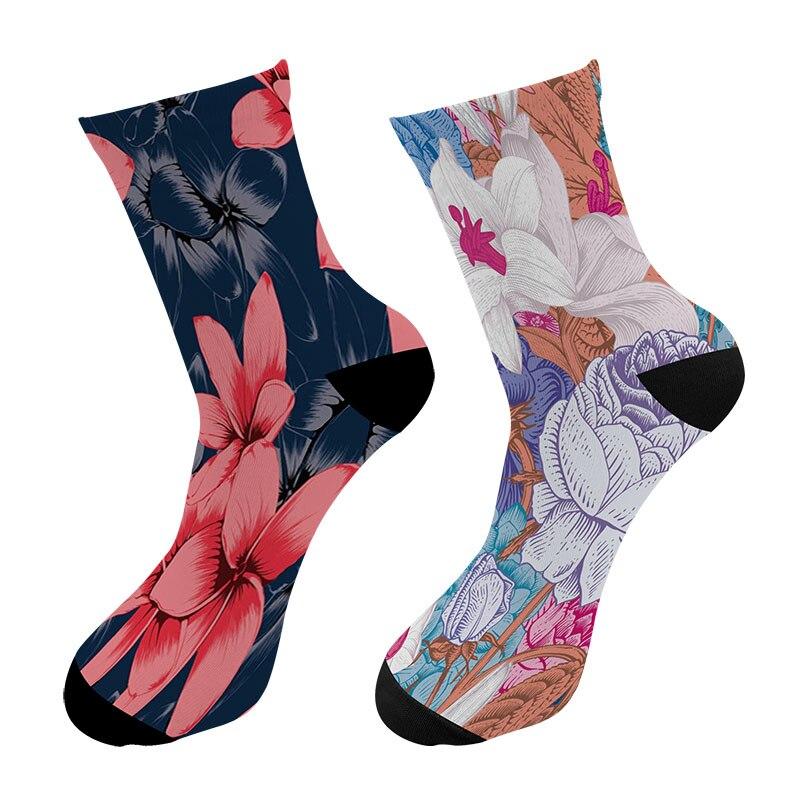 New 3D Printed Flower Cactus Paint Crew Socks Men Blossom Pattern Men's Dress Long Socks Flower Sugar Skull Tube Socks