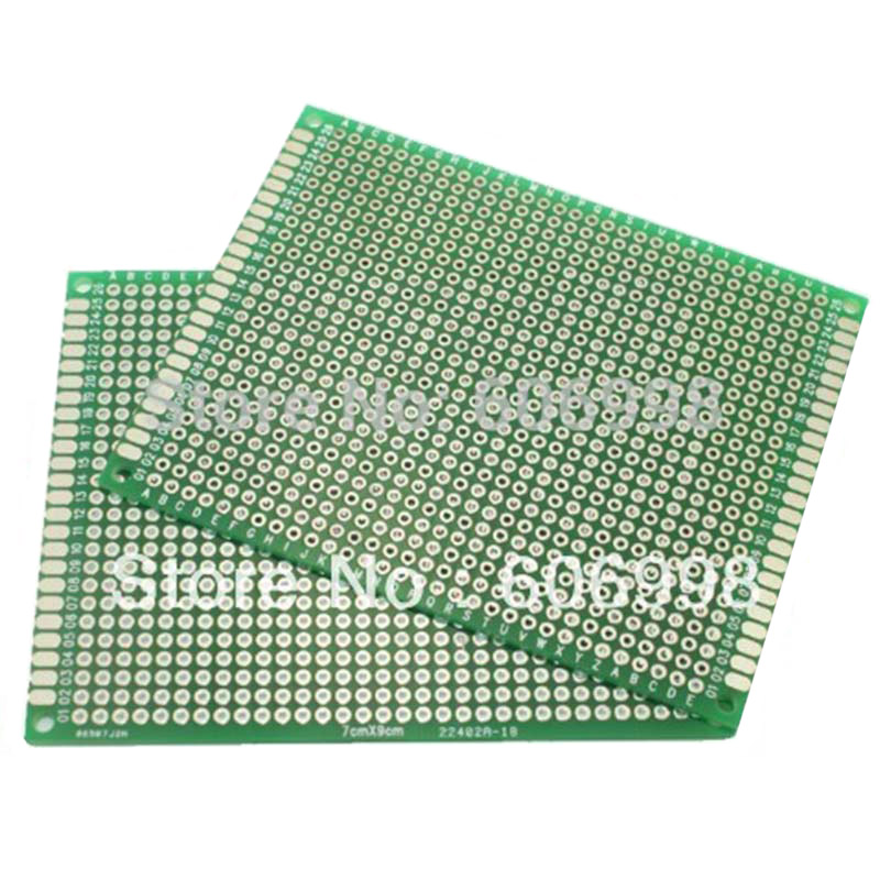 Купить с кэшбэком 12pcs/lot 7x9 6x8 5x7 4x6 3x7 2x8cm Double Side Prototype Diy Universal Printed Circuit PCB Board Protoboard For Arduino