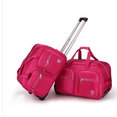 Wheeled Travel Bag Trolley Oxford Cabin Rolling Luggage Bags Travel Trolley Bag With Wheels Travel Duffle Suitcase Travel Totes