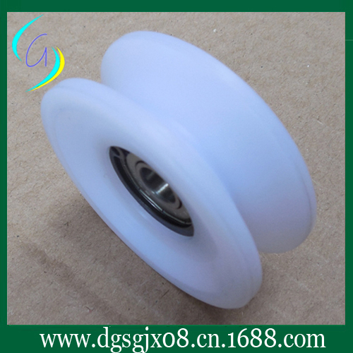 POM wire guide pulley ,white plastic pulley chrome oxide plated steel wire guide pulley for wire industry