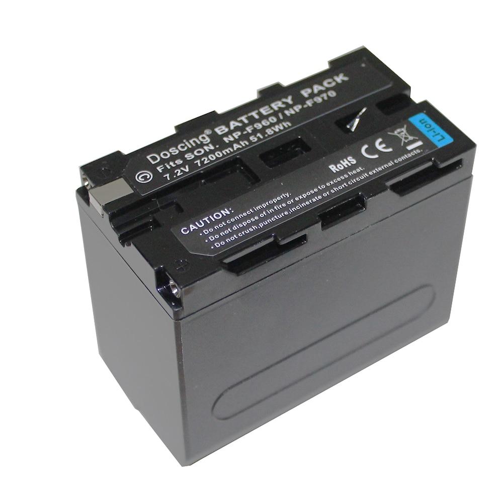 7200mAh NP-F960 NP-F970 NP F930 Battery for SONY F950 F330 F550 F570 F750 F770 198P HXR-NX5 HXR-NX5P HXR-NX5V HXR-NX5U MVC-FD51
