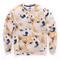 2016 New Fashion God Annoying Doge Dogs Head Printed Pullovers Sweatshirt Men Women Funny Animal 3d Sweatshirt Wholesales