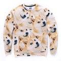 2016 Nova Moda Deus Irritante Doge Cabeça Cães Impresso Pullovers Camisola Das Mulheres Dos Homens Engraçados 3d Animal Moletom Grosso