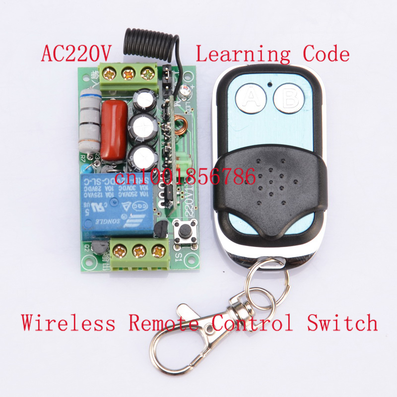220V 1CH Wireless Remote Power Switch System 1 Receiver& 1 Transmitter with metal controlle 315MHZ/433MZH wireless pager system 433 92mhz wireless restaurant table buzzer with monitor and watch receiver 3 display 42 call button