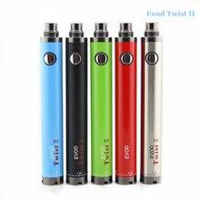 Cigarrillo electrónico Evod giro II 1600 mah cigarrillo electrónico batería evod actualiza batería de voltaje variable 3.3 v-4.8 v batería evod