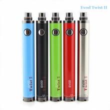 E cigarette Evod twist II 1600 mah electronic cigarette battery upgrade evod variable voltage battery 3.3v-4.8v evod battery