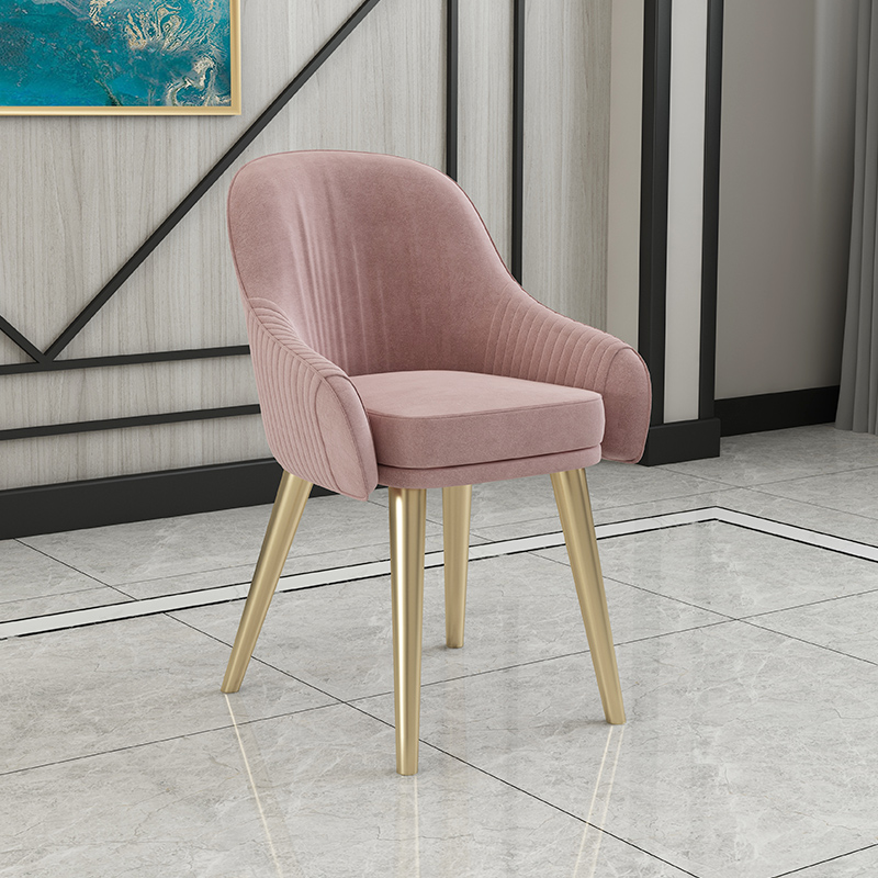 Скандинавский свет роскошный стул для столовой Современный чистый красный стул домашний дизайн ресторана кресло молочный чай кресло для отдыха - Цвет: 1