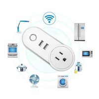 Remote Control Outlet WiFi Smart Socket Wireless Timer Socket Home Adaptor With USB Ports US Plug UK Plug EU Plug