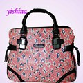 Women PU Leather Letters Pattern Animal Trolley Travel Bag High-end Laptop On-board Wheeled Handbag Traveller Bags