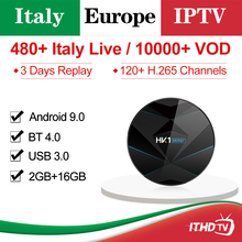 IPTV Italy France Arabic Turkey ITHDTV HK1 MINI+ 2G+16G TV Box Android 9.0 BT Dual-Band WIFI Italian