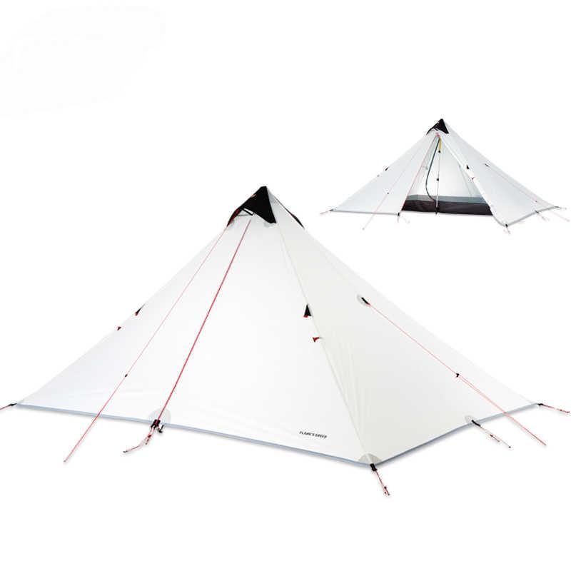 2019 FLAME'S CREED 15D powłoka silikonowa Rodless podwójna warstwa namiot pojedynczy 1 osoba 3 sezon wodoodporny Ultralight namiot kempingowy