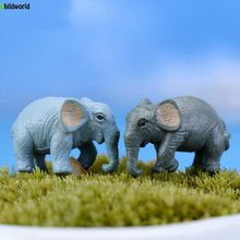 Moss Micro Landscape Mini Garden Figurines Decoration Home Furnishing Decor Elephant Simulation Accessories