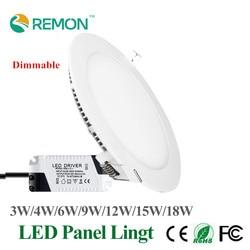 Dimmable led panel light ultra thin ceiling recessed downlight 3w 4w 5w 6w 9w 12w 15w.jpg 250x250