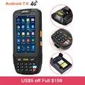 Беспроводной Android 7,0 Ручной PDA смарт-терминал данных портативный 2D QR сканер штрих-кода с Wi-Fi Bluetooth gps считыватель штрих-кодов