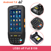 Wireless Android 7.0 Handheld PDA Smart Data Terminal Portable 2D QR Barcode Scanner with Wifi Bluetooth GPS Barcode Reader