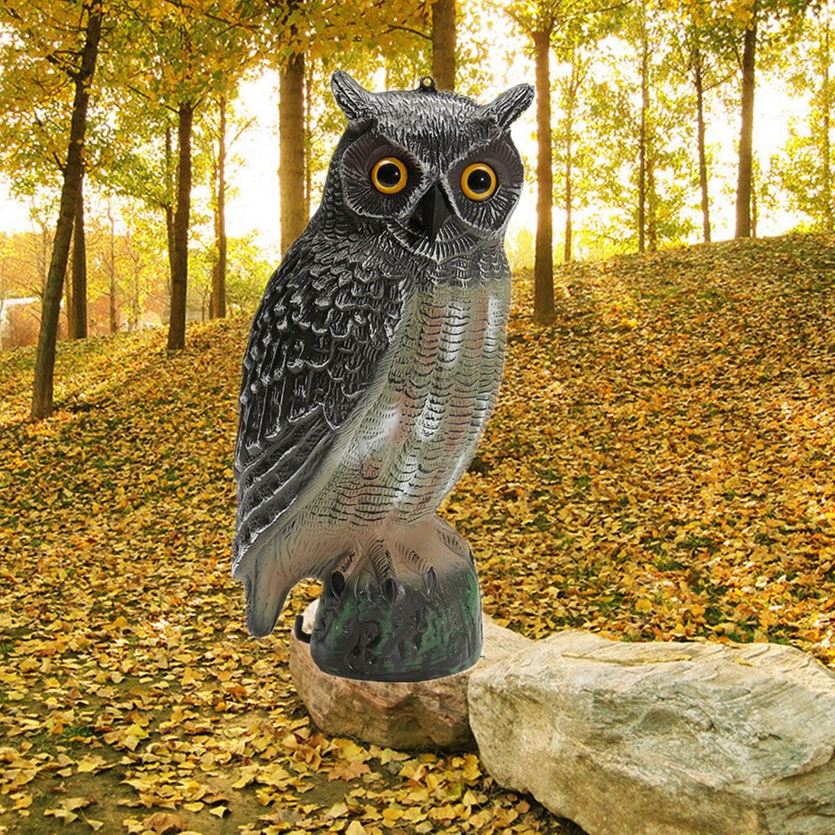 Neue Lebensechte 3D Outdoor Jagd Lockvögel Kunststoff Gefälschte Eule Garten Decor Ornamente Für Jagd Decoy Scarer Scarecrow Vogel Anrufer